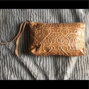 Alex and Ani local mercantile leather clutch